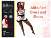 *TA* Alika Red DRESS and Shoes