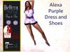 *TA* Alexa Purple DRESS and Shoes