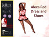 *TA* Alexa Red DRESS and shoes