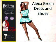 *TA* Alexa Green DRESS and Shoes