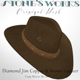 Diamond Jim Copper & Brown Leather Stone's Works