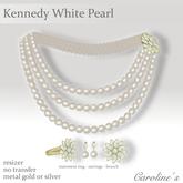 (Caroline's Jewelry) Kennedy Pearls in White