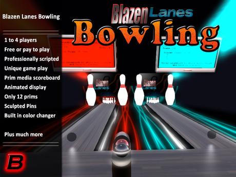 Blazen Lanes Bowling x 2(Playable 10 Pin Bowling Simulator)