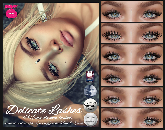[POUT!] Delicate Lashes - Multi Appliers