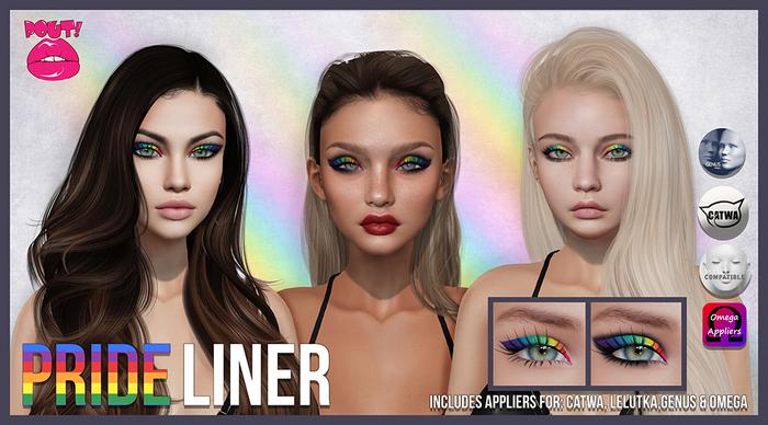[POUT!] Pride Liner- Eye make up
