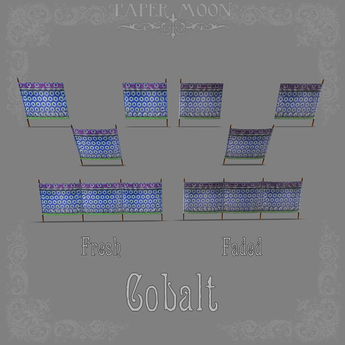*pm* Fabric Fence - Nouveau: Cobalt (ADD ME)