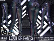 MALified - Leather Pants (Black): Maitreya Only