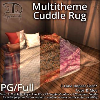 [DDD] Multitheme Cuddle Rug - PG/Full - Seats 3 w/ Cuddles