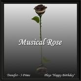 Musical Rose - Happy Birthday