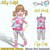 *Cherry Tot* BEBE/TDB FItted Ally Ourfit Hot Pink (Wear&Click)