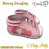 *Cherry Tot* BEBE/TDB Fitted Bunny Sneakers