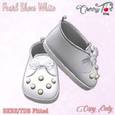 *Cherry Tot* BEBE/TDB Fitted Pearl Shoes White