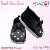 *Cherry Tot* BEBE/TDB Fitted Pearl Shoes Black