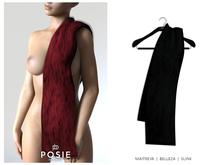 POSIE - Jasmine Faux Fur Stole .ONYX