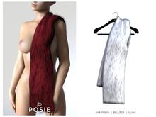 POSIE - Jasmine Faux Fur Stole .WHITE
