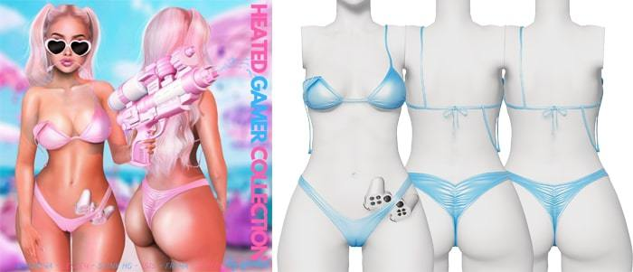 Spoiled - Heated Gamer Bikini Cute Blue