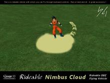 Gaagii - Rideable Goku`s Nimbus Cloud - Flying Vehicle