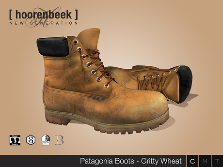 Work Boots - Gritty Wheat - Signature Gianni & Geralt, Belleza Jake, SLink Physique & CA
