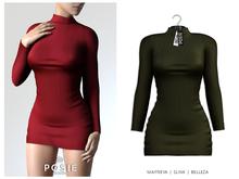 POSIE - Danielle Wool Strech Dress .OLIVE