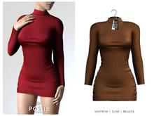 POSIE - Danielle Wool Dress .CAMEL