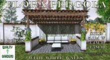 QG Flora Pergola with White Walls