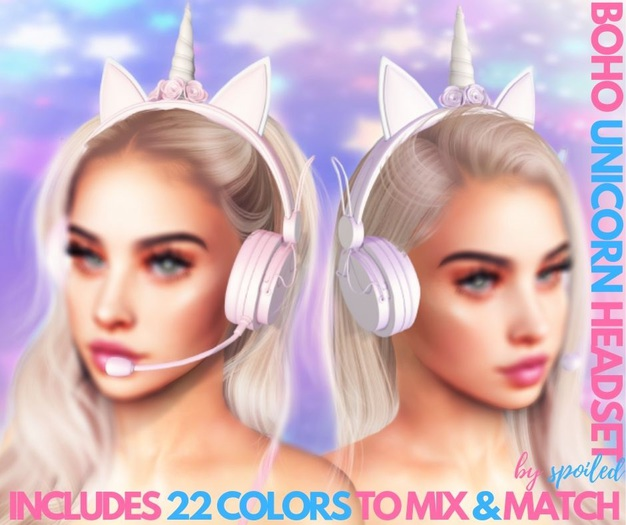 Spoiled - Boho Unicorn Gaming Headset Fatpack
