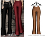 POSIE - Ami Ribbed Flare Pants .CAMEL
