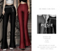 POSIE - Ami Ribbed Flare Pants .FATPACK