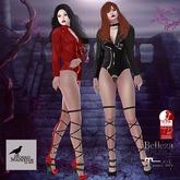MORBID MAUSOLEUM Gemma Latex Bodysuit - Red