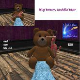 Big Brown Cuddle Bear-crate