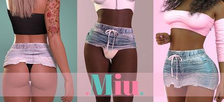 Miu - Ava denim skirts DEMO