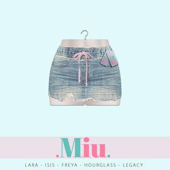 Miu - Ava light blue used denim skirt