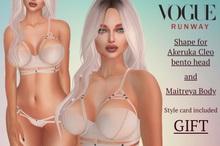 VRW GIFT Shape for Akeruka Cleo Bento head & Maitreya Body