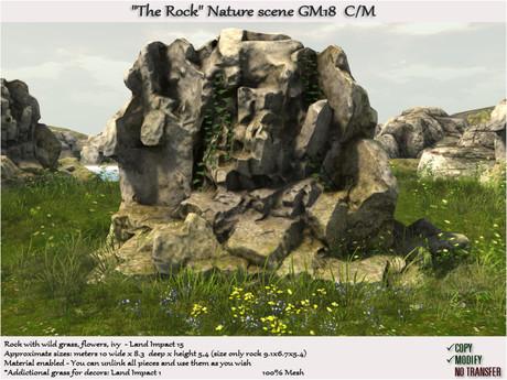 The Rock wild grass Nature scene GM18 C/M