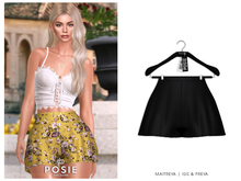 POSIE - Billie Silk Shorts .ONYX
