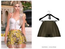 POSIE - Billie Silk Shorts .OLIVE