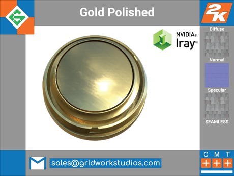 Second Life Marketplace Gold Polished