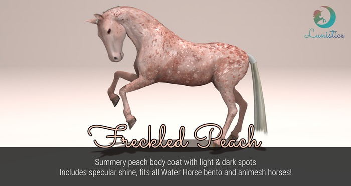 Lunistice: Freckled Peach - Water Horse Body Coat
