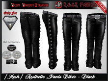 [Mesh] Mens Pants Biker Av Aesthetic  -  Rock Fashion