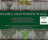 QG Flora Old White Wall Set