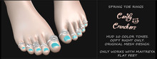 Candy Crunchers - Spring Toe Rings - Maitreya - w/HUD (Unpack)