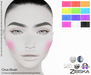 Zibska ~ Chus Blush in 12 colors with Lelutka, Genus, LAQ, Catwa and Omega appliers and tattoo layers