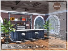 Maya's - Anton Bar Set /  Changing Textures / Giver Drinks