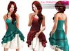 MAITREYA FULL PERM Strapless Sweetheart Neck 4 Tiered Ruffled Asymmetrical Skirt Cocktail Dress