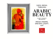 Wall Painting. Tableau. Back-light. Arabic beauty. Gif