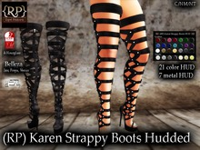 (RP) Karen Strappy Boots Hudded