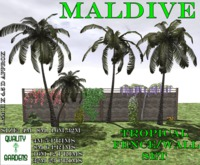 QG Maldive Tropical Fence / Wall Set