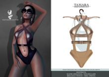 Nocturnal Couture Tamara Bathing Suit Gold & Beige