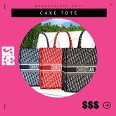 /$$$/ CAKE TOTE