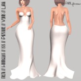 Paper.Sparrow White Backless Gown  (ADD ME)